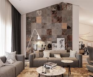10+ Desain batu alam untuk dinding ruang tamu minimalis