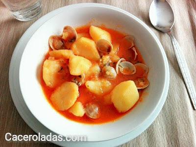 patatas guisadas con chirlas