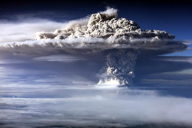Ash cloud. The Puyehue volcano in Chile erupted