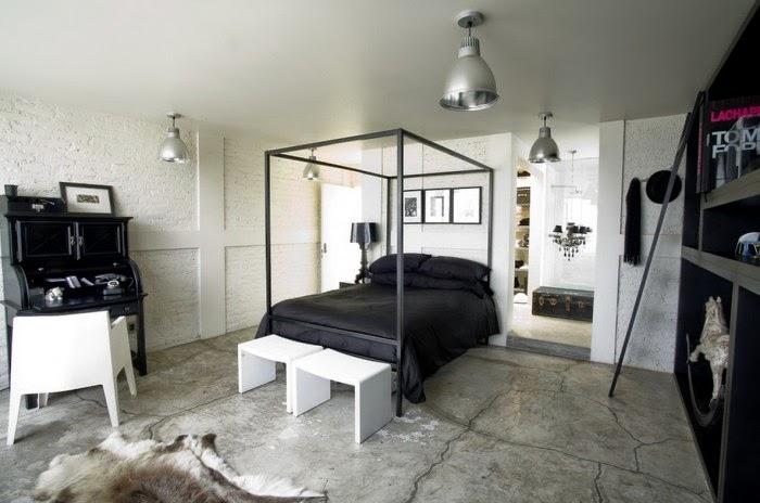 Habitación estilo industrial
