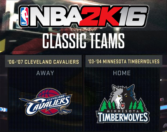 NBA 2K16 12 New Classic Teams Full List