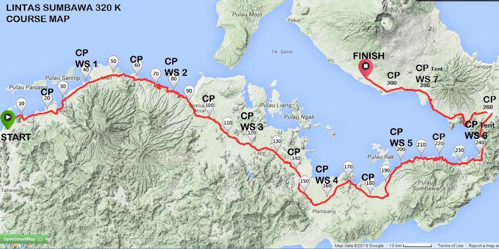 Kompas Tambora Challenge – Lintas Sumbawa 320K Route 2018