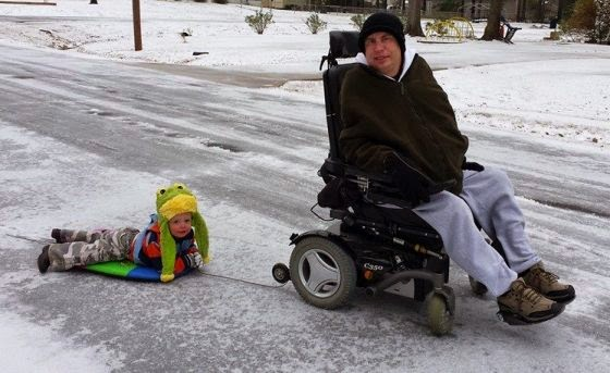 Wheel-Chair Snow Board