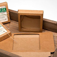 Kraft box with clear window for crafts and prints