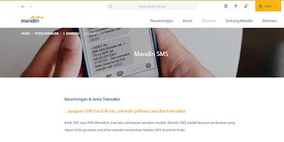 cara daftar sms banking bank mandiri