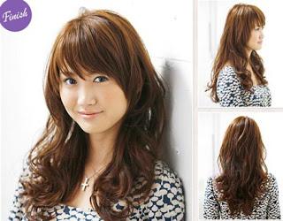 model rambut cewek korea