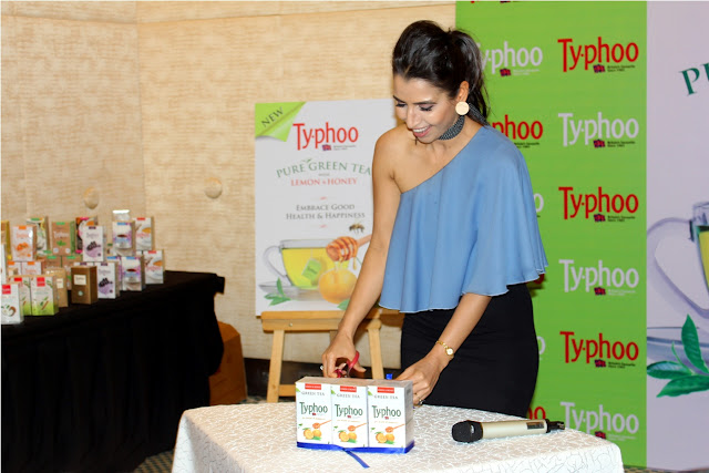 Shalini Chopra- Unveiling Lemon and Honey Green tea variant (1)