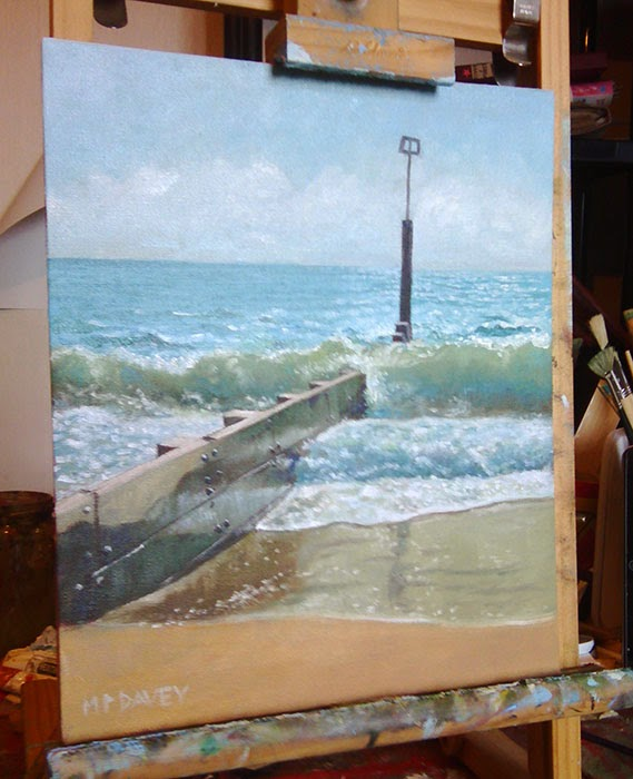 Groyne at Bournemouth beach - WIP artist Martin Davey
