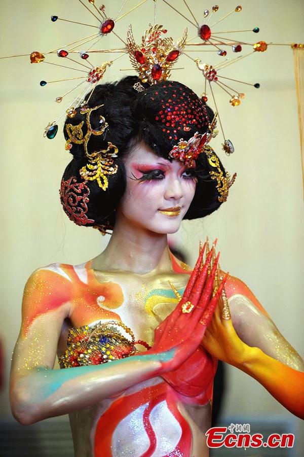 Best Body Painting Chinese Body Painting Women-5428