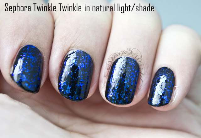 Sephora Twinkle Twinkle nail polish top coat swatch