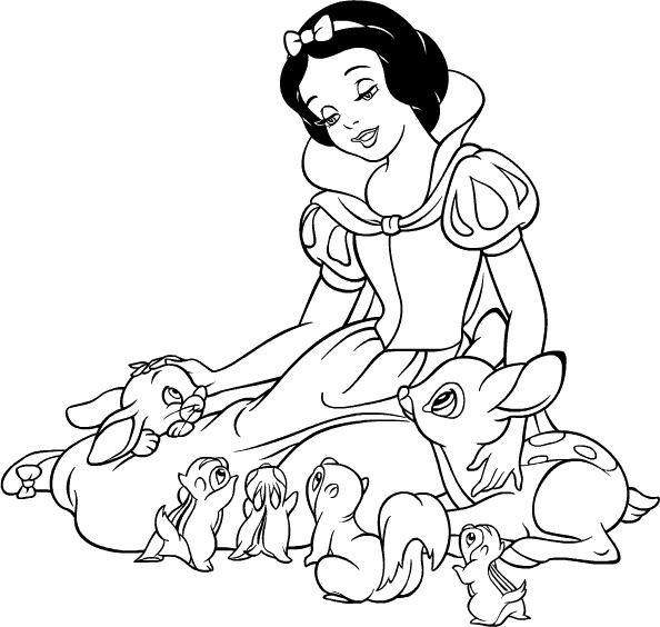Princesas Disney Blancanieves Para Colorear