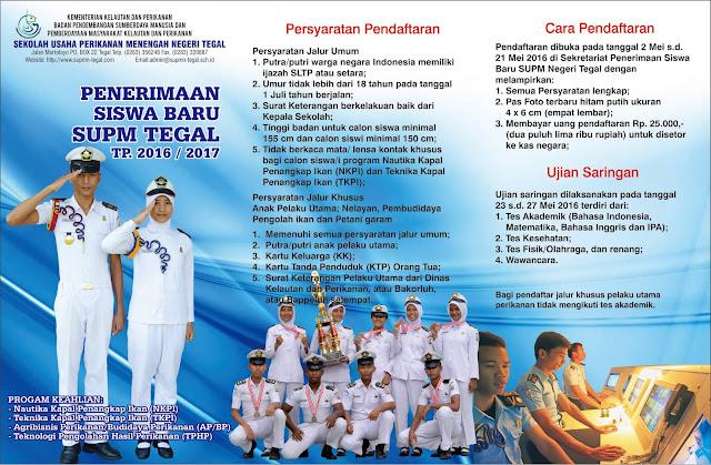 SUPM Negeri Tegal Membuka Penerimaan Siswa Baru Tahun Pelajaran 2016 / 2017, Ada Jalur Khusus Nya!