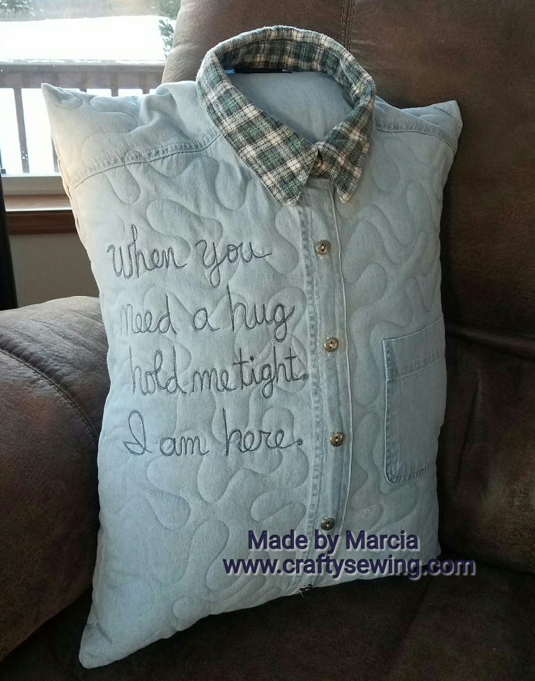 how to make a quilted memory pillow