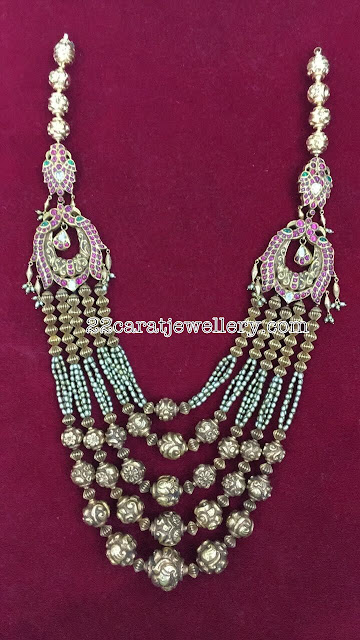 Five Layers Nakshi Balls Pearls Set
