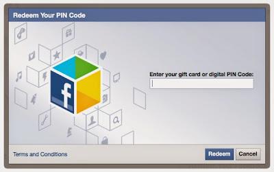 Cara reedem kode kupon kartu hadiah Facebook untuk beli permainan premium