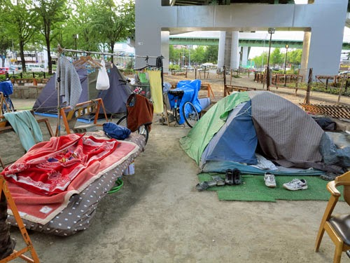 Homeless Problem in Nagoya, Aichi, Japan