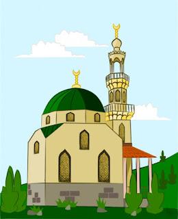 Gambar Kartun Masjid Cantik dan Lucu 201719