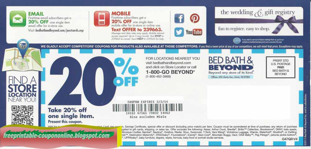 bed and bath coupons printable