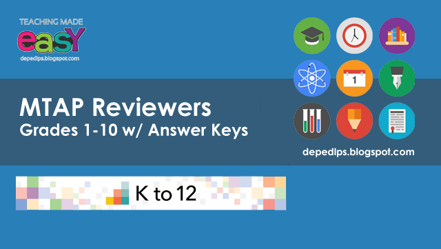 MTAP Reviewers Grades 1-10 with Answer Keys