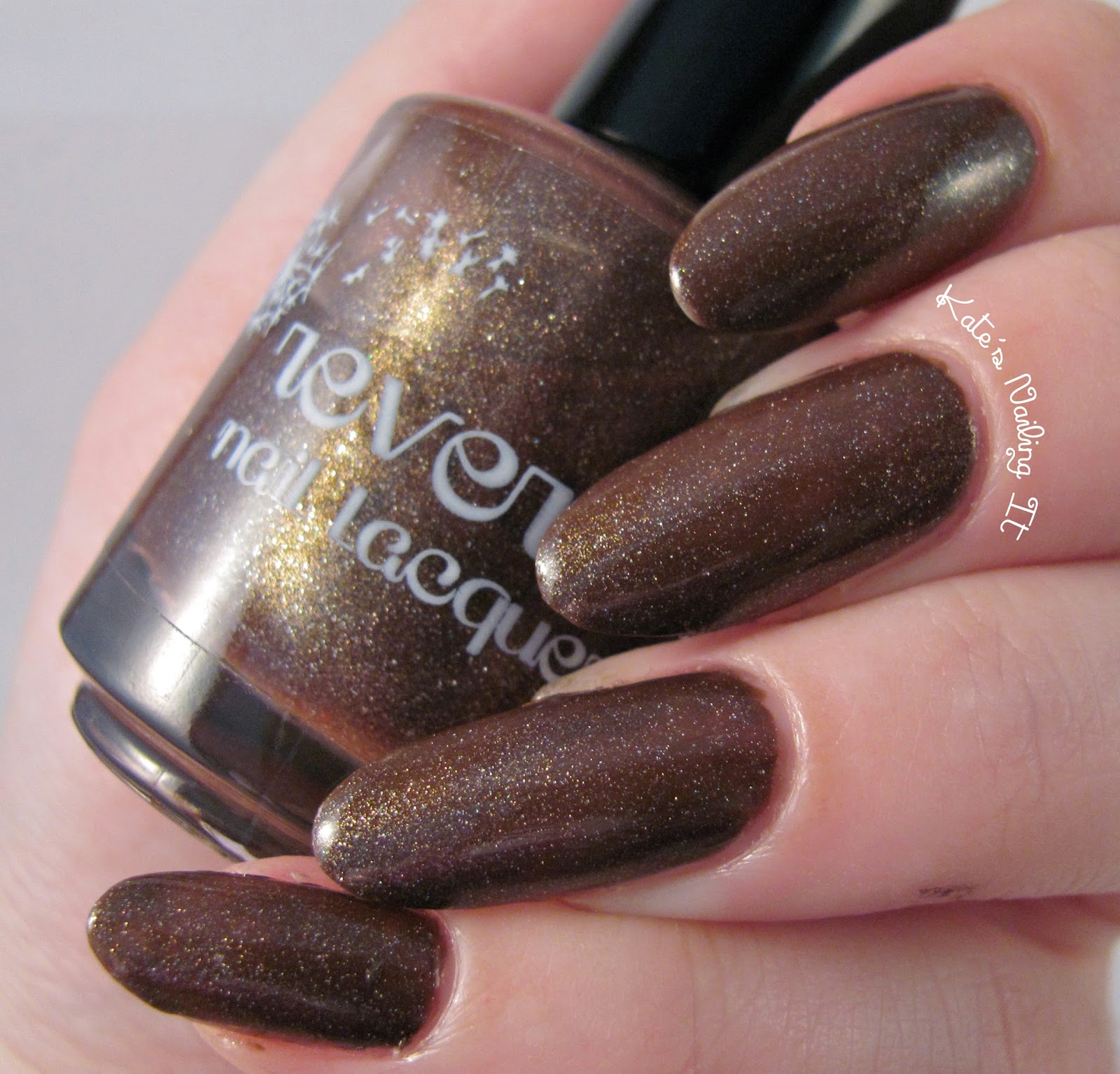 Kates Nailing It Reverie Nail Lacuqer Hot Chocolate Nail Art