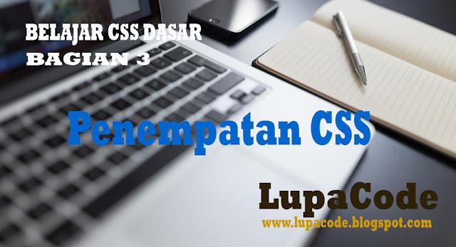 Belajar CSS Dasar Cara Penempatan CSS