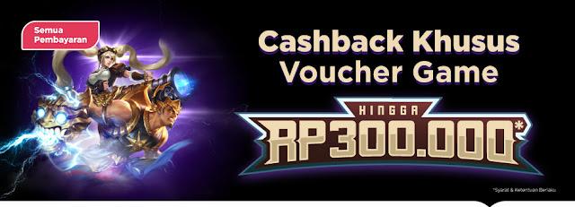 Promo CASHBACK Voucher Game Online Hingga Rp. 300.000 di Tokopedia
