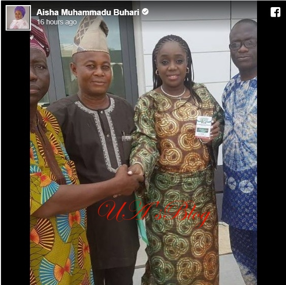 Buhari's wife, Aisha congratulates minister of finance Kemi Adeosun for formally joining APC