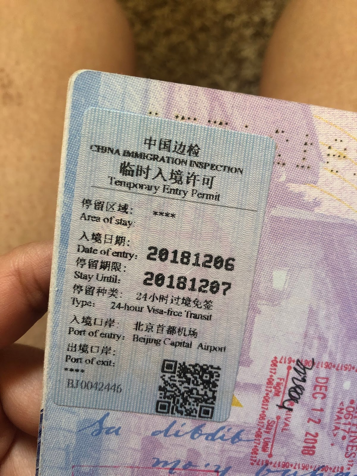 Getting a Temporary Entry Permit in Beijing china for a layover tour