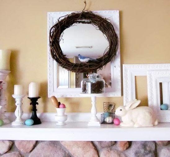 Como decorar tu chimenea para pascua mimundomanual - Como decorar una buhardilla ...
