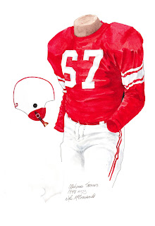 1948 University of Oklahoma Sooners football uniform original art for sale