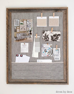 DIY Framed Cork Bulletin Board