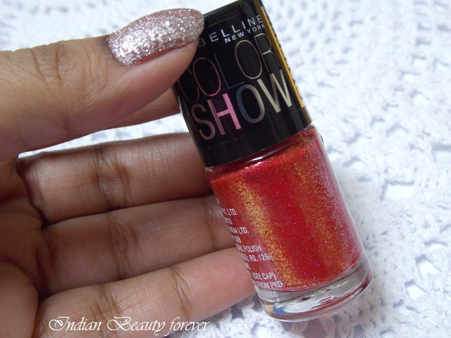 Maybelline Color Show Glitter Mania in Red Carpet shades