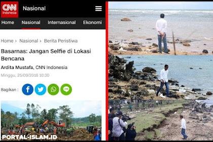 Basarnas: Jangan Selfie di Lokasi Bencana, Kalau Foto Bapak Presiden ini Bagaimana?