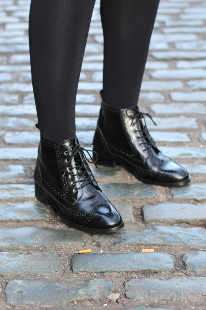 ASOS Artistry Leather Lace Up Brogue Boots - London fashion blog