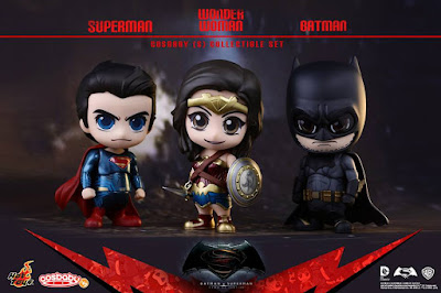 Batman v Superman: Dawn of Justice Cosbaby Vinyl Figure Series by Hot Toys - Superman, Wonder Woman & Batman