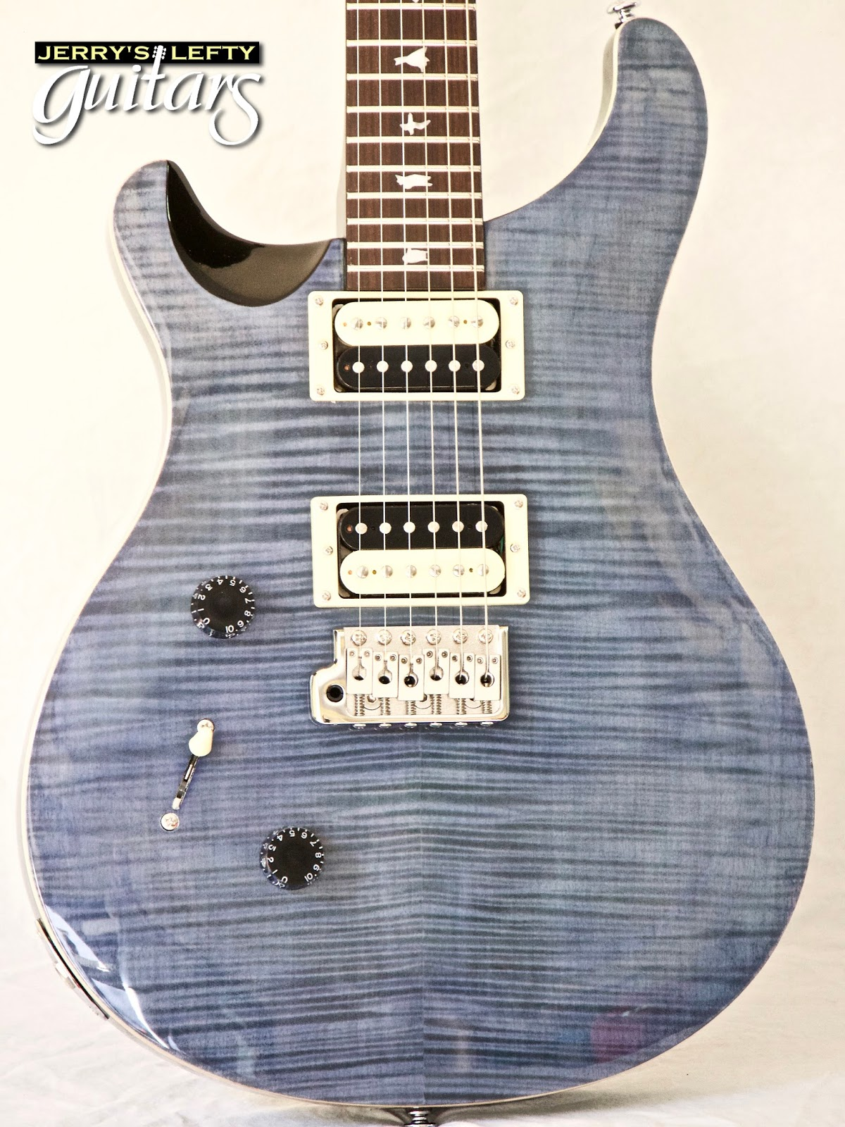 jerry 39 s lefty guitars newest guitar arrivals updated weekly prs se custom 24 whale blue 869. Black Bedroom Furniture Sets. Home Design Ideas