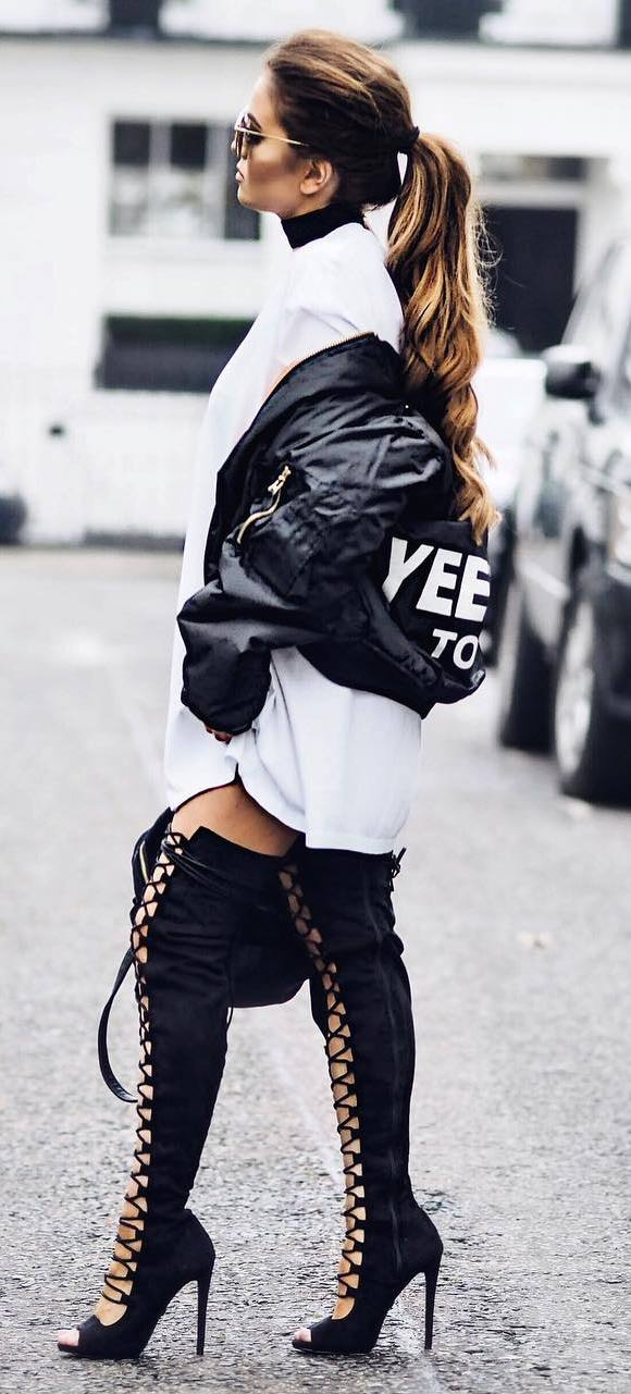 black and white fashion inspiration