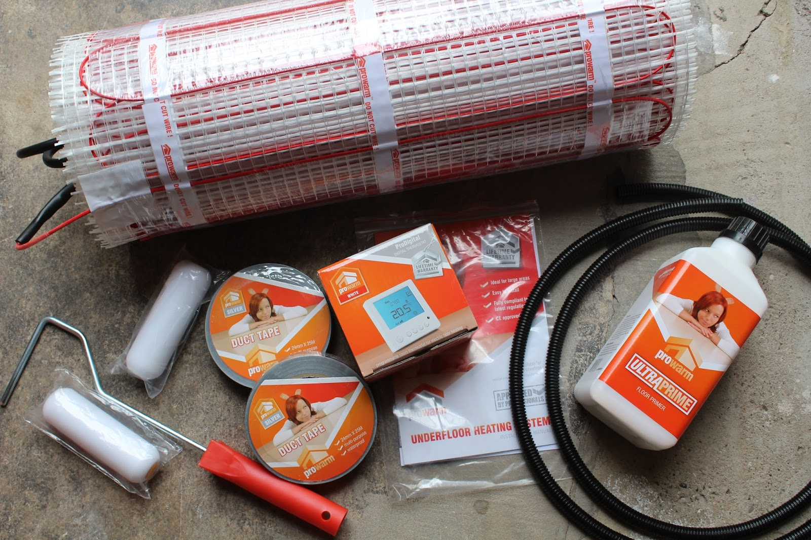 Pro Warm underfloor heating kit