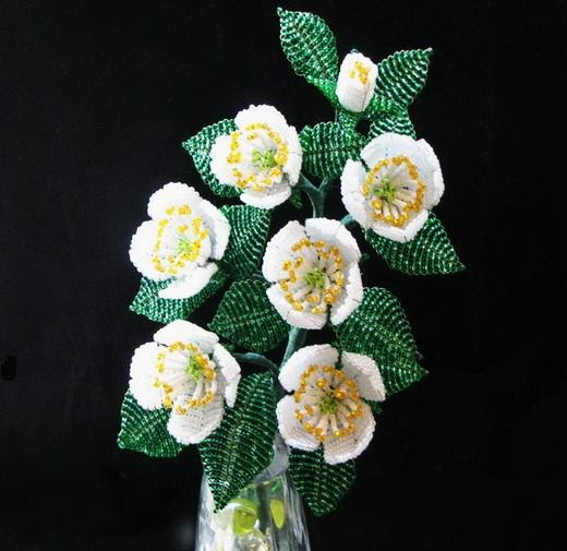 Emy S Gallery Beaded Jasmine Flowers With Pictures