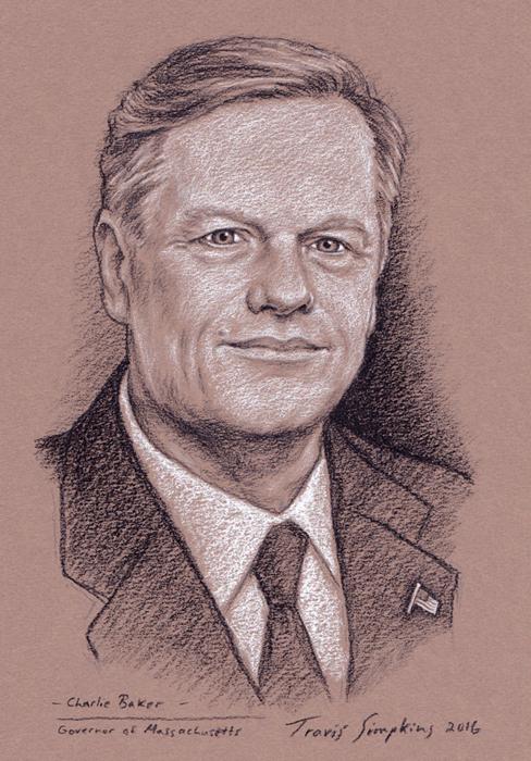 Travis Simpkins Charlie Baker Governor Of Massachusetts State - Governor of massachusetts