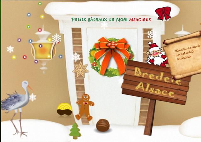 Petits biscuits alsaciens de l'Avent à Noël