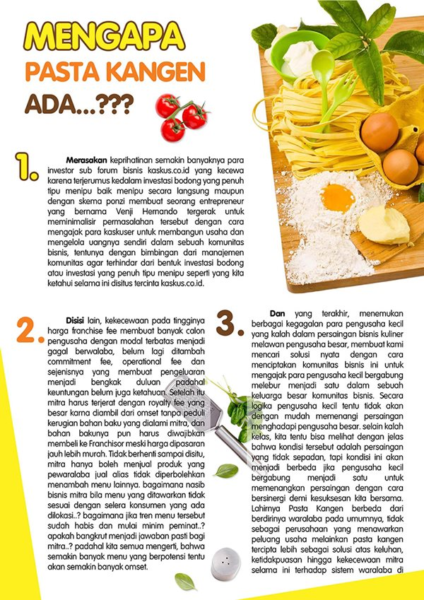 foodpedia pasta kangen
