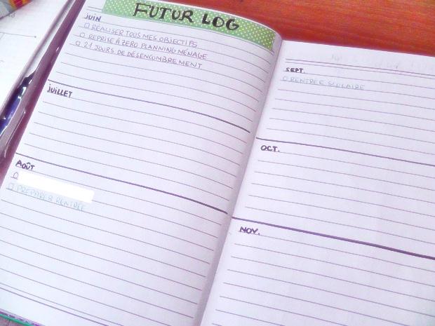 Bullet Journal setup futur log - Un Bout de Life