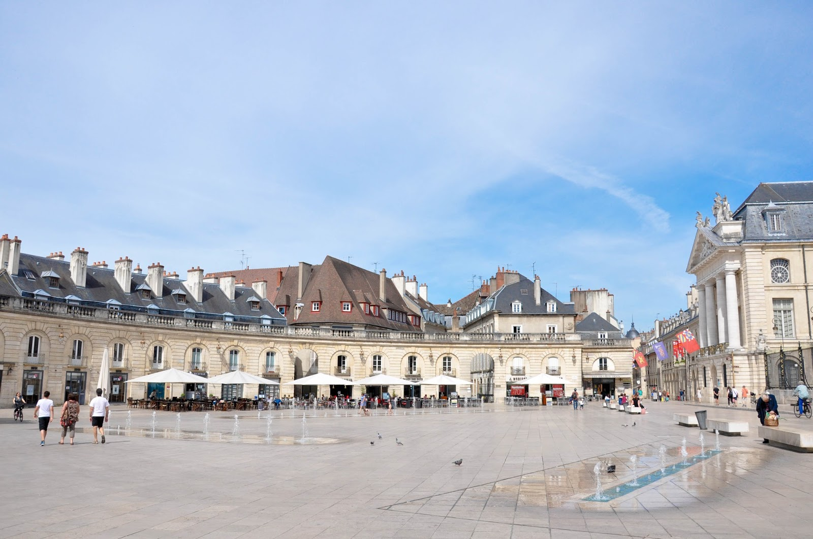 The main square, Dijon, Burgundy, France