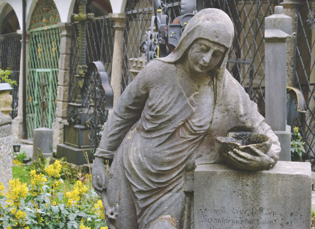 Stone memorial Petersfriedhof Salzburg