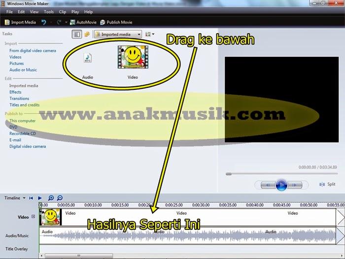 2. Cara Mudah Menggabungkan Lagu dan Video di Movie Maker