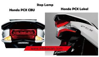 perbedaan lampu depan PCX Lokal CBU