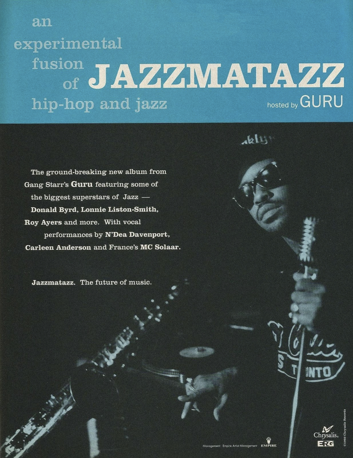 Guru Jazzmatazz Volume 1 Advertisement May 18, 1993