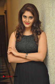 Actress Surabhi Stills in Black Long Dress at turodu Audio Launch  0044.JPG