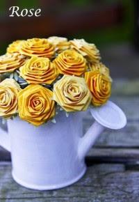 Contoh Kerajinan Tangan, Bunga Mawar Kertas